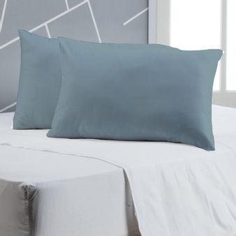 -Juego-de-2-Almohadas-en-tela-Microfibra-Azul-Cielo-