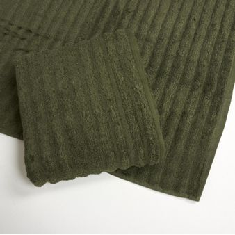 Set-x2-Toalla-de-baño-algodon-470-gsm-bisel-Verde-Oliva