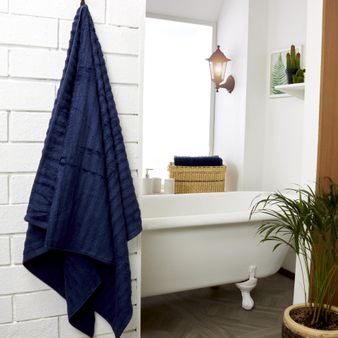 Set-x2-Toalla-de-baño-algodon-470-gsm-bisel-Azul-Oscuro