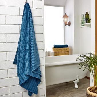 Set-x2-Toalla-de-baño-algodon-470-gsm-bisel-Azul-Denim