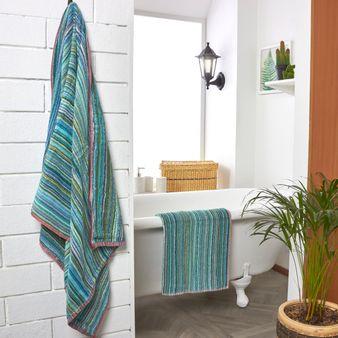 Set-x-2-Toalla-baño-algodon-420-gsm-70-135-cm-Verde