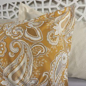 Forro-plumon-algodon-200-hilos-arabesco-amarillo