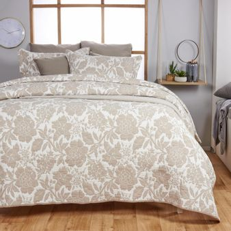 Cubrecama-jacquard-reversible-flores-taupe