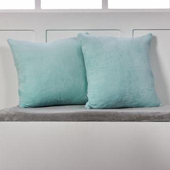 Set-x-2-Cojines-en-tela-flannel-fleece-estampada-menta