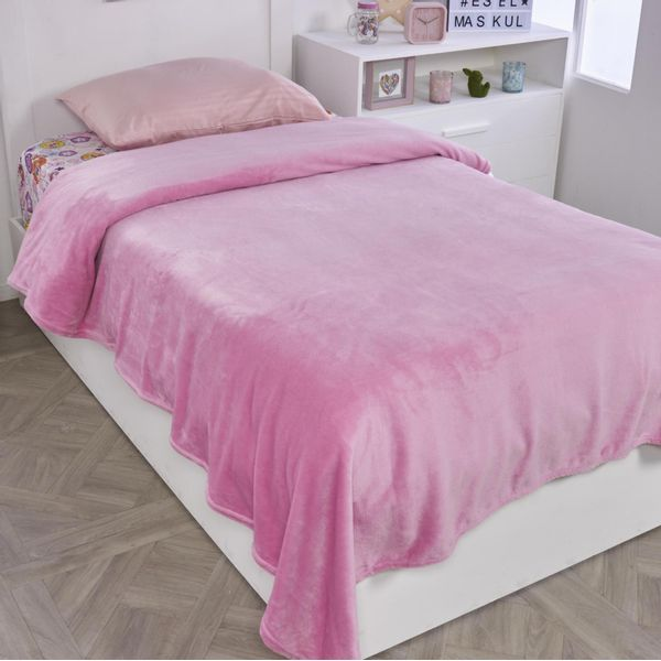 Cobija-flannel-unicolor-rosada