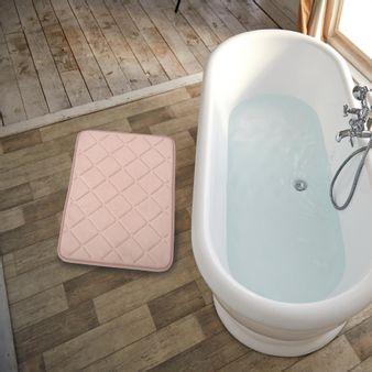 Tapete-de-baño-espuma-rombo-rosa-plata