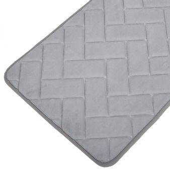 Tapete-de-baño-espuma-zigzag-gris-claro