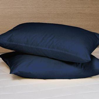 Juego-de-2-almohadas-144-hilos-unicolor-azul-oscuro