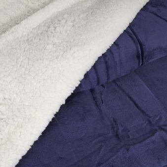 Cobija-ovejera-acolchada-Azul-patriota
