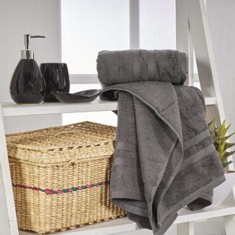Set-x2-Toallas-de-baño-algodon-550-gsm-gris-oscuro