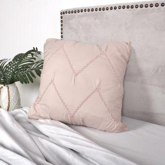 Cojin-drapeado-rosa-plata-45-x-45-cm