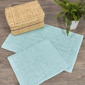 Juego-de-2-Tapetes-de-baño-tipo-toalla-algodon-900-gsm-verde-claro